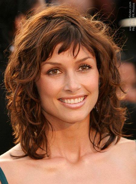 Curly Hair, Curly Wavy Length Medium