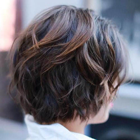 Balayage Shag Brown Bob