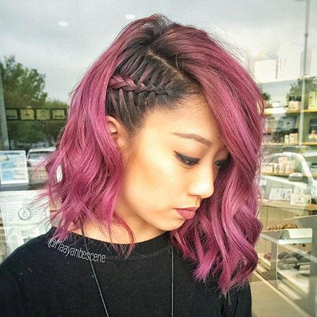 Purple Hair Side Ombre