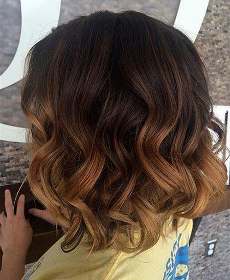 Brown Ombre Short Hair, Hair Balayage Brown Curly