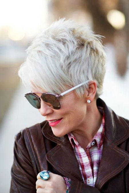 Short Hairtyles for Women Over 60, Short Pixie Long Blonde
