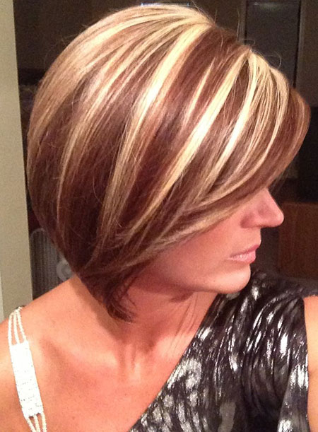 Short Haircuts With Red And Blonde Highlights Best Short