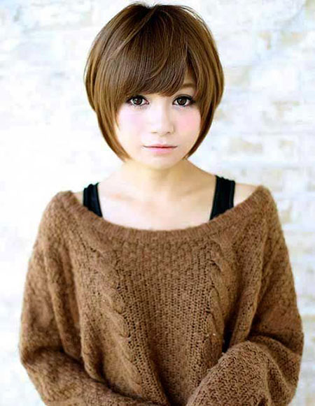 Short Hair Asian Round