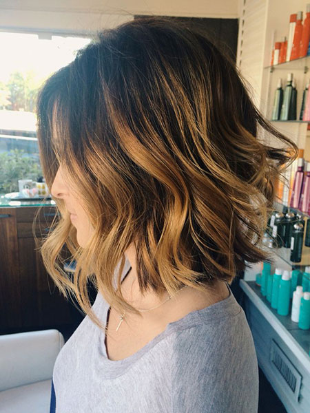 Balayage Bob Color Brown