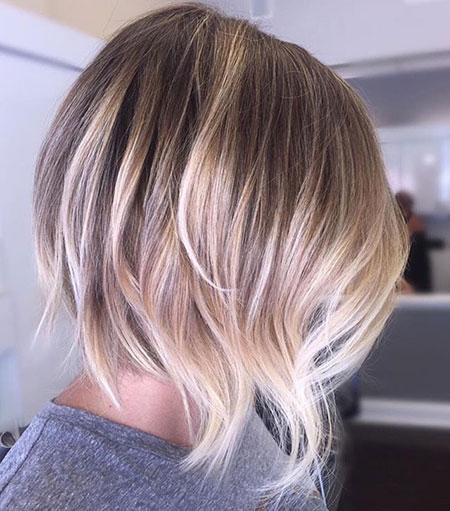Balayage Short Blonde Hair
