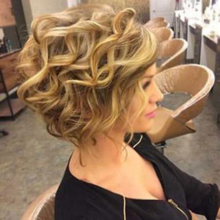Hair Curly Short Wedding