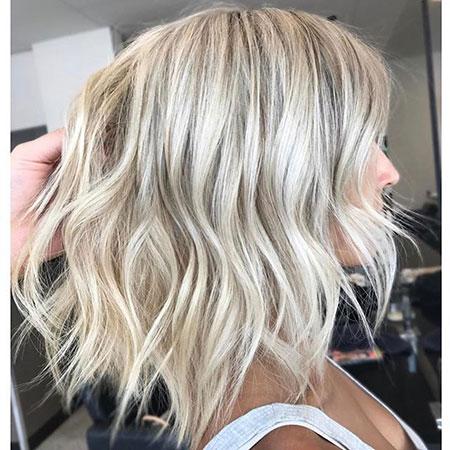 Blonde Platinum Balayage Wavy