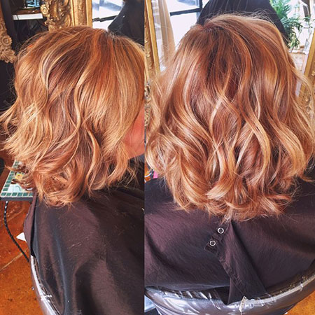 Hair Color Copper Highlights
