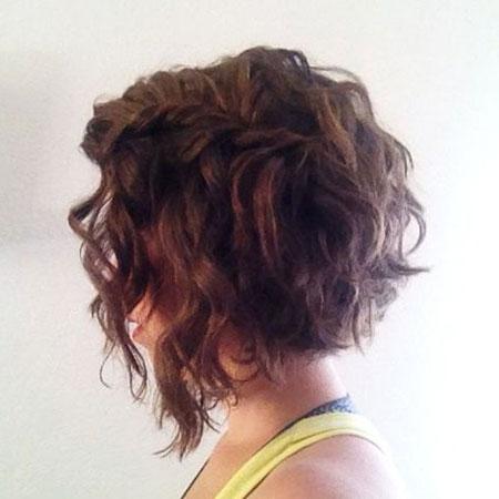 Curly Bob Angled Haircuts