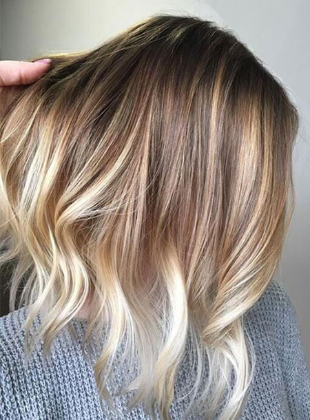 Blonde Hair Balayage Color