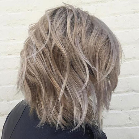 Dark Ash Blonde Short Hair, Blonde Bob Ash Balayage