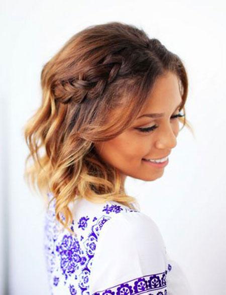 Ombre Hair, Hair Short Wedding Braided