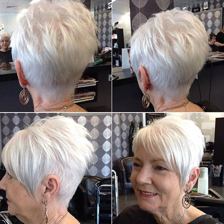 Hairtyles for Women Over 50, Short Pixie Women Older