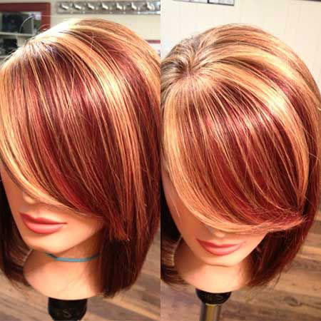 Color Hair Trends, Red Color Hair Highlights