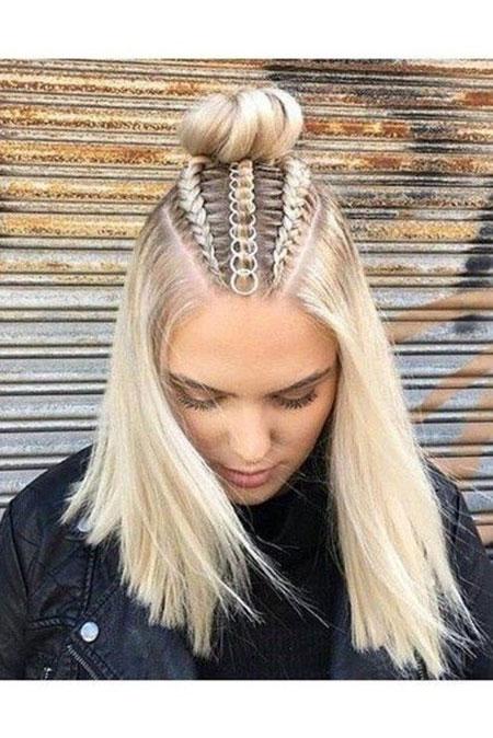 Blonde Hair Platinum Braid