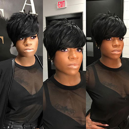 Short Hair Black Cute