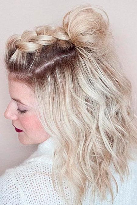 Wavy Hairtyle, Blonde Prom Short Wavy