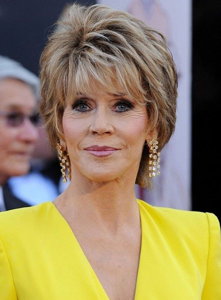 Layered Hair, Short Hair Fonda Haircuts
