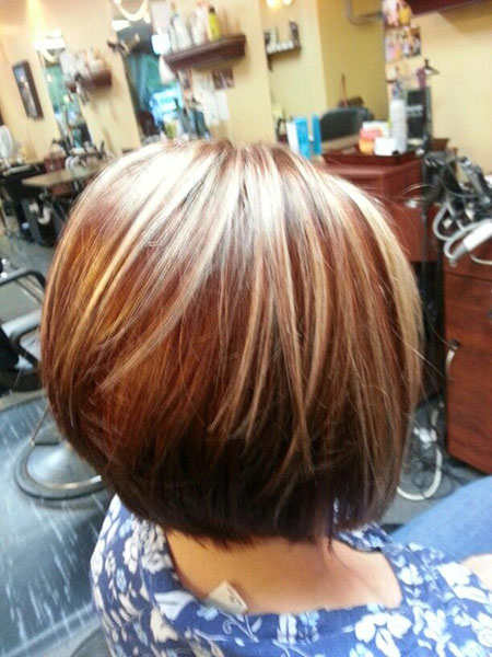 Hair Highlighting, Bob Lowlights Hair Highlighting