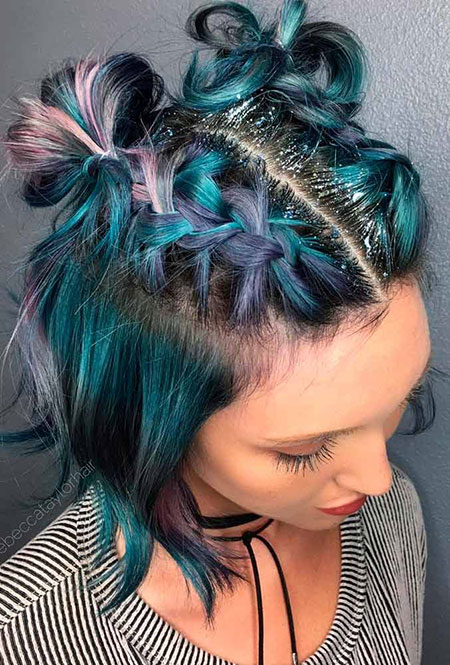 Blue Hair Color, Hair Color Short Prom