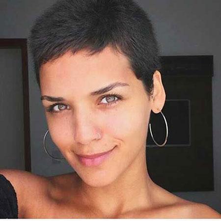 Very Short Hair Dark, Very Short 20 Lady