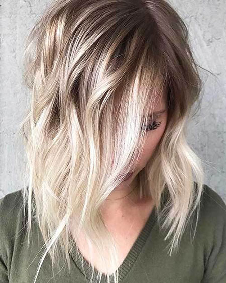 Choppy Haircut, Blonde Hair Balayage Ombre