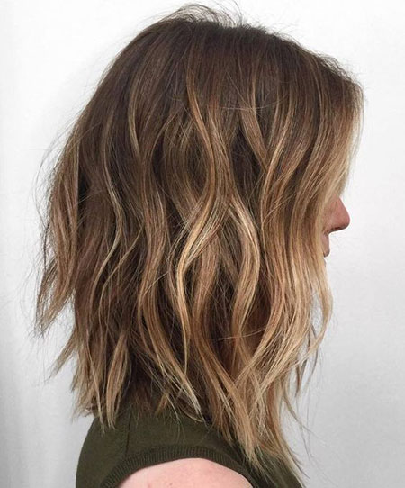 0, Choppy Balayage Long Lob