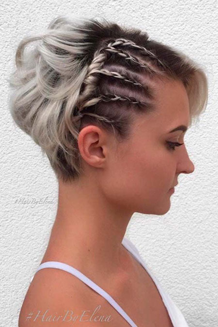 Simple Braids, Short Hairtyles Pixie Braid