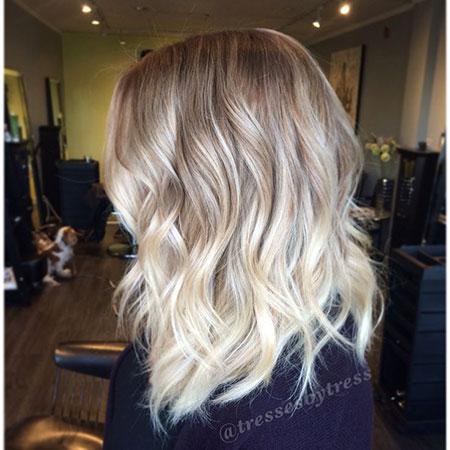 Blonde Balayage Hair Platinum