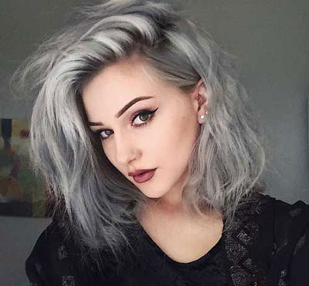 Hair Short Easy Grey