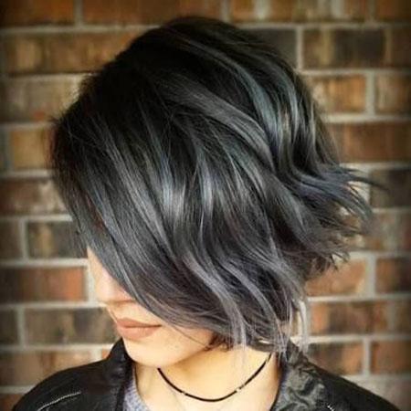Silver Highlights Hair Layered