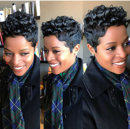 Hair Short Cute Black