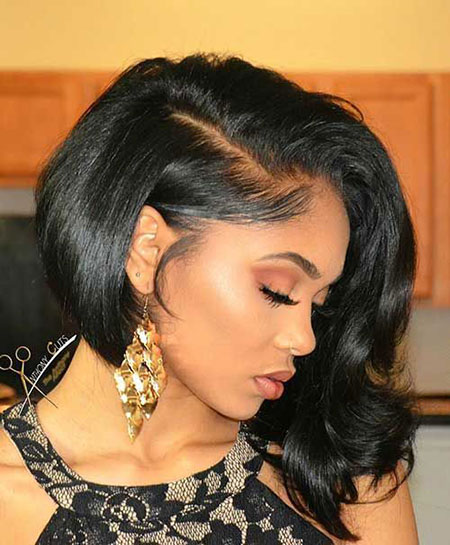 Black Bob Hair Women