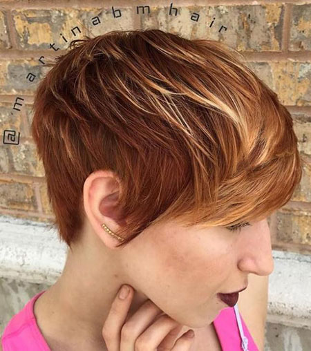 Pixie Blonde Highlights Bob