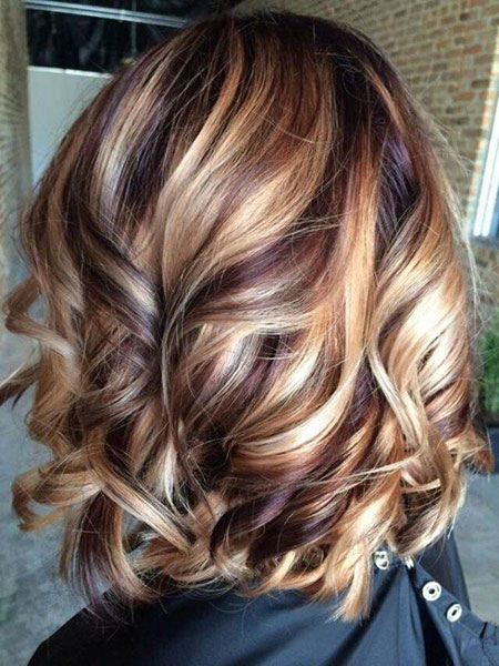 Highlight Ideas for Brown Hair, Length Medium Hair Highlight