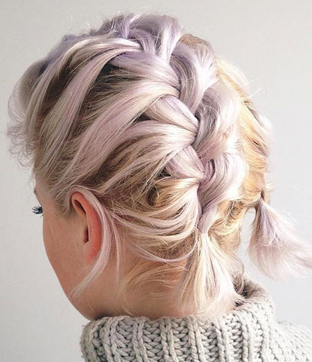 Braid Hairtyle for Short Hair, Hair Short Braids Updo