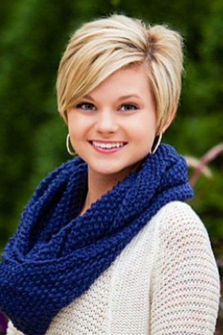 Short Haircut for Round Faces, Short Hair Round Pixie