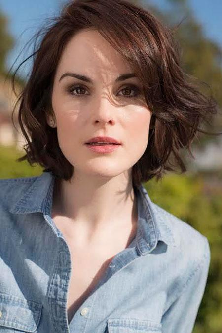 Short Hairtyle for Wavy Hair, Short Hair Kristen Length