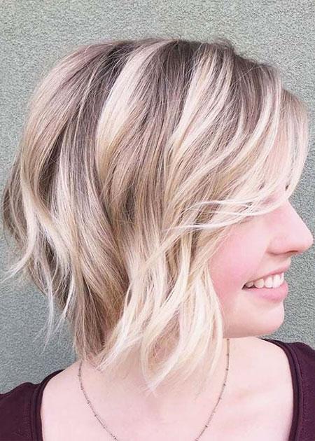 Short Layered Hairtyle for Fine Hair, Hair Blonde Fine Bobs