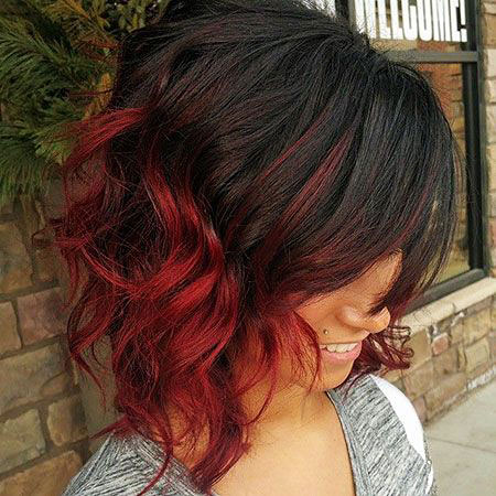 Hair Red Ombre Balayage