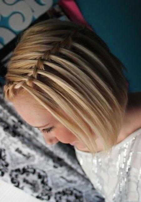 Hair Blonde Short Braided