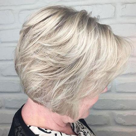 Blonde Ash Balayage Older