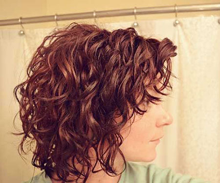 Curly Bob Layered Short