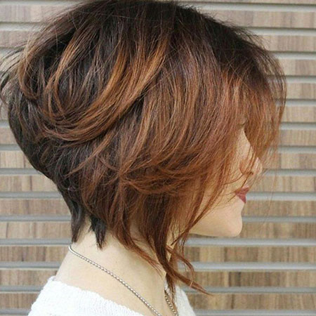 Bob Layered Brown Inverted