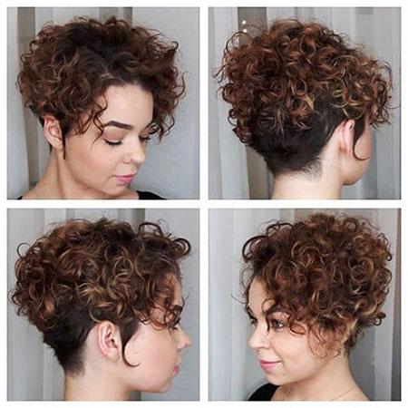 Curly Hair Short Cabelo