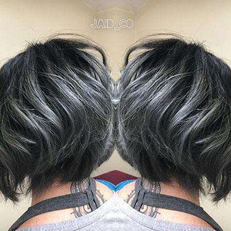 Choppy Black Short Silver