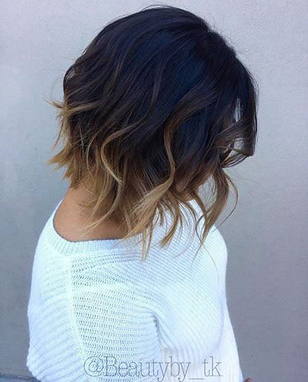 Hair Brown Short Balayage