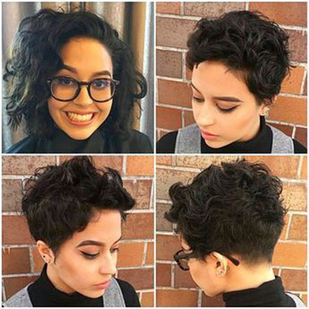 Short Hair Pixie Curly