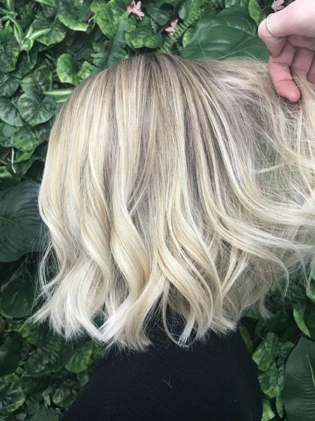 Blonde Hair Ash Choppy