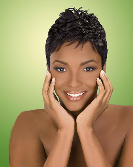 Short Hair Women Black